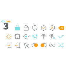 Control ui pixel perfect well-crafted thin vector