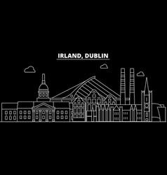 dublin silhouette skyline ireland - dublin vector image