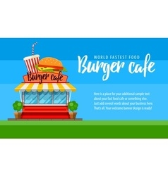 Fast food cafe flyer or banner vector
