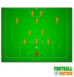 Football tactics vector