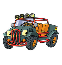 Funny buggy car or outroader vector