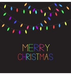 Glowing Colorful Christmas Lights Xmas Merry vector
