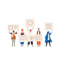 group political activists or demonstrators vector image