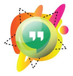 hangout communication platform icon on a white vector image