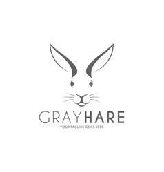 hare logo vector image