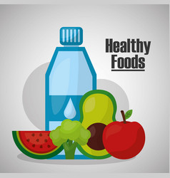Healthy foods lifestyle vector
