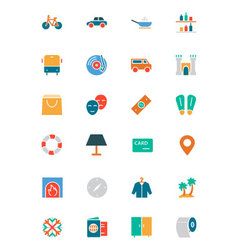 Hotel and Restaurant Colored Icons 5 vector image