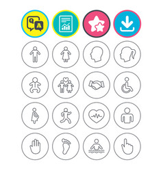 human icons toddler and pregnant woman vector image