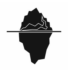 Iceberg icon simple style vector