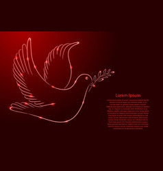 International day peace symbol dove vector