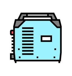 Inverter welding color icon vector