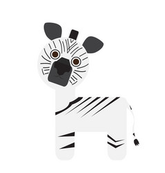Isolated cute zebra vector