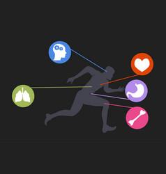 Jogging man running guy fitness exercise vector