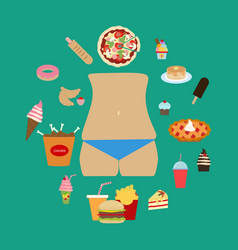 junk food obesity vector image