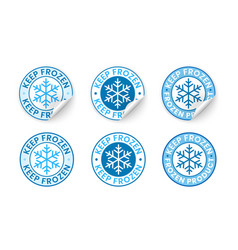 keep frozen label sticker with curled edge vector image