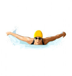 lady swimmer vector image
