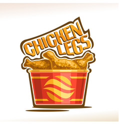 Logo for crispy chicken legs vector