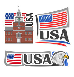 Logo for usa vector