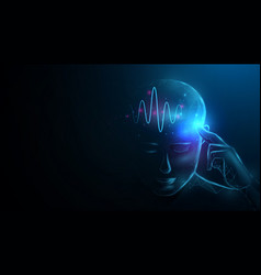 male anatomy power human brain human face vector image