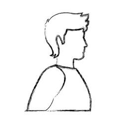 Male man avatar profile icon in sport clothes vector