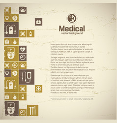 medical help and treatment background vector image