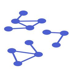 molecule example icon isometric style vector image