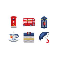 national symbols of england united kingdom design vector image