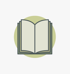 open book colored icon vector image