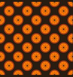 orange fruit seamless art brown pattern background vector image