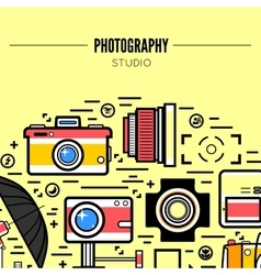 Photographer or photostudio concept design vector