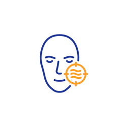 problem face skin line icon need facial care sign vector image