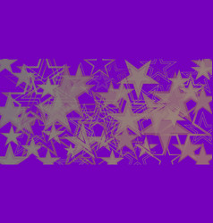 purple metallic background in blue stars vector image