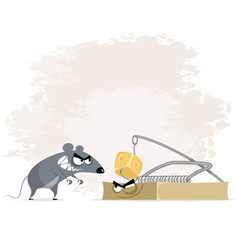 Rat and mousetrap vector