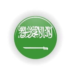 Saudi Arabia icon circle vector
