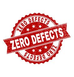 Scratched textured zero defects stamp seal vector