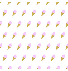 Seamless pattern ice cream summer background with vector