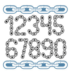 Set of stylish digits modern numerals collection vector