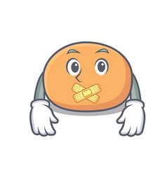 Silent mochi mascot cartoon style vector