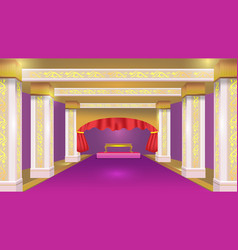 Stateroom violet luxury design background vector