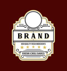 sticker brand logo label vector image