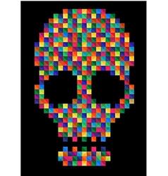 T shirt Graphics skull vector image