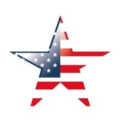 Usa flag symbol star shape vector
