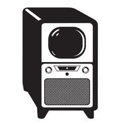 Vintage television set vector