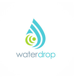 water drop shape tecnology logo vector image