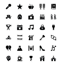 Wedding Icons 3 vector image