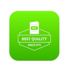 wine menu icon green vector image
