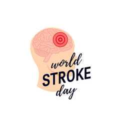 World stroke day concept vector