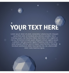Your text here with group of spheres vector image