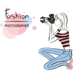 fashion photographer vector image