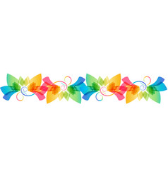 floral colorful ornament vector image vector image